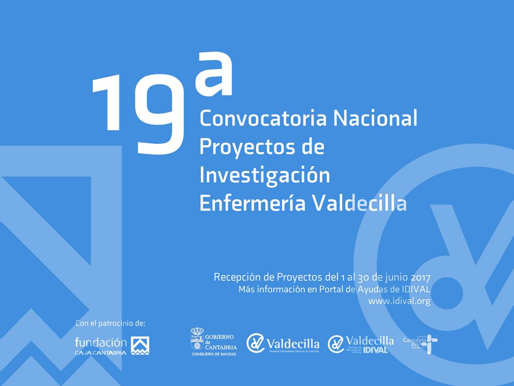 19ª Edición Nacional Proyectos de Investigación «Enfermería-Valdecilla»