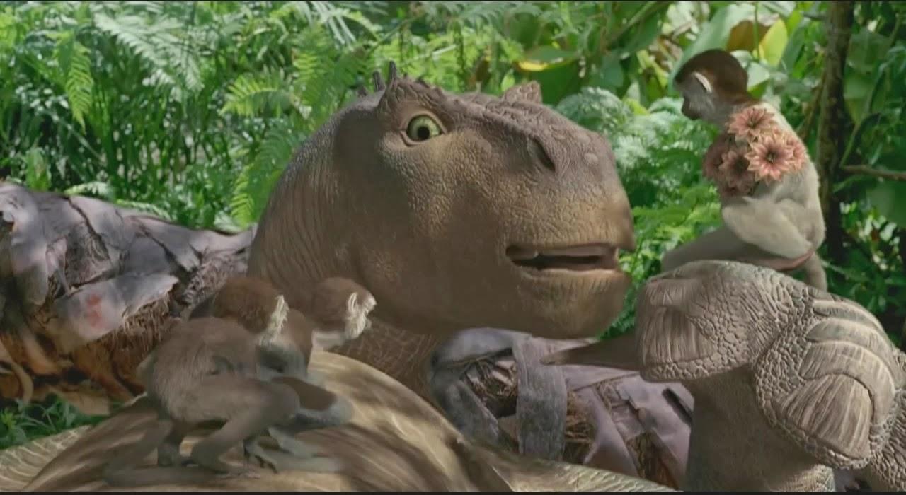 Proyección: «Dinosaurio».  Dirección: Eric Leighton, Ralph Zondag. Estados Unidos (2000).