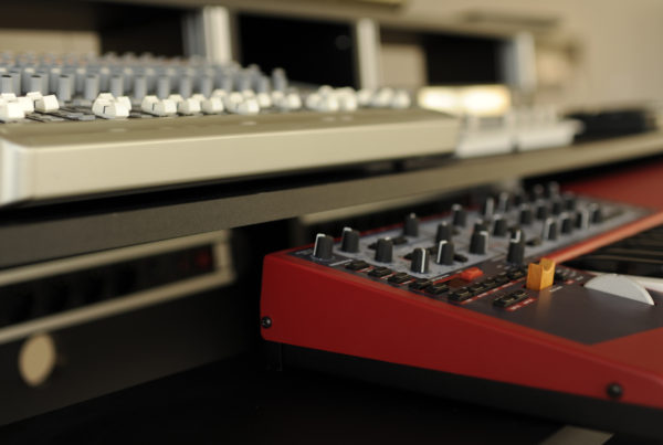 Teclado música electrónica