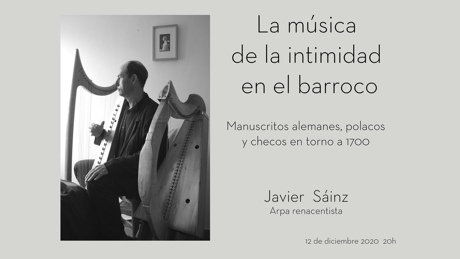 CONCIERTO. Javier Sáinz, Arpa Renacentista. AMAC